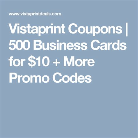 Vistaprint 500 Business Cards For 10