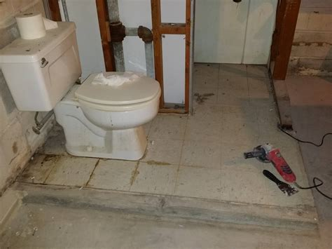 basement bathroom flooring options can i up the floor of a raised floor basement