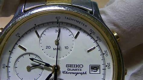 Seiko 7t32 seiko 7t32 6a50 dual tone chronograph