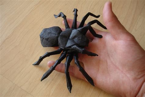origami tarantula tutorial origami incredibly creepy origami spiders origami spider