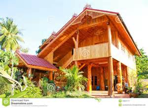 home house made of wood royalty free stock photography