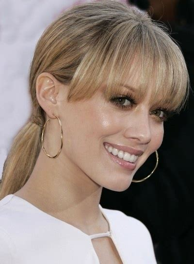 bang ponytail hilary duff straight ponytail with bangs health beauty