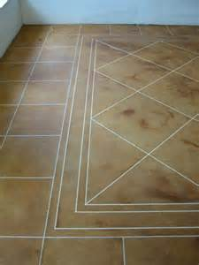 Kitchen Floors Tiles - acid etched concrete stain is used throught out our home