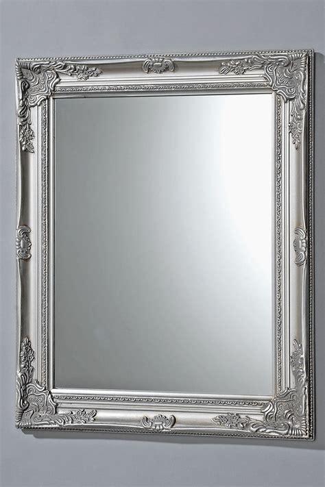 spiegelrahmen streichen spiegel holzspiegel wandspiegel silber holz glas 82 cm ebay
