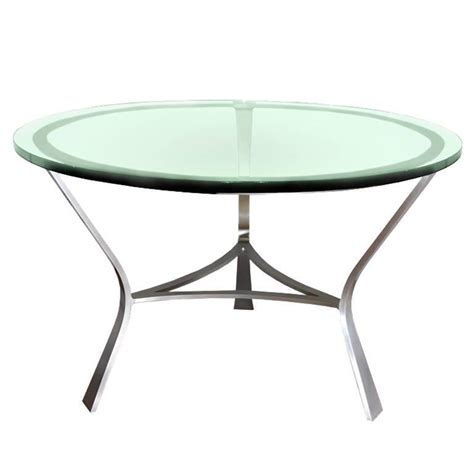 glass top dining table by vesey for sale at 1stdibs