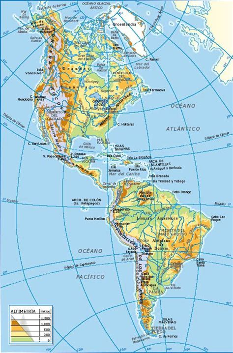 mapa topografico america sur mapas de america pol 237 tico mapa f 237 sico geogr 225 fico
