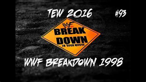 93 Series Logo episode 93 wwf breakdown 1998 tew 2016 dual monday