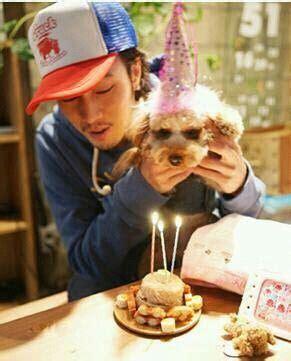 so ji sub birthday so ji sub with kiki birthday girl pet 51k so ji sub