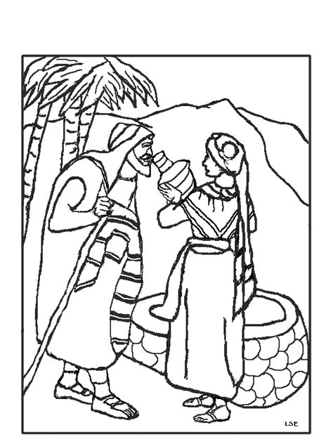 isaac and rebekah coloring pages coloring pages