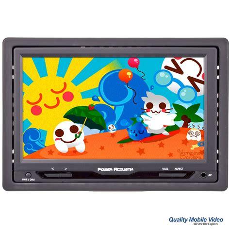 Tv 5 6 Inch Headrest Tv Mobil power acoustik pt 712ira 7 inch dual channel ir headrest tft lcd monitor
