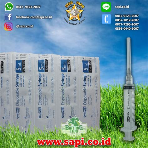 Sulpidon 100 Ml Sanbe By Farm syringe spuit spet 5ml onemed disposable bintang tani