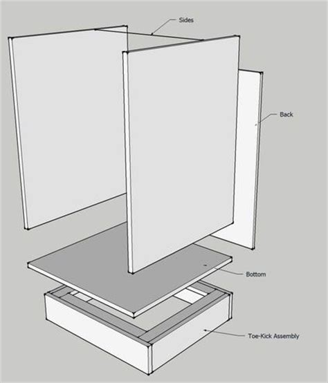 Kitchen Cabinet Kick Plate by Cabinet Making 101 Tutorial With Cut Sheet Home