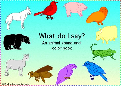 what would say books what do i say an animal book enchantedlearning
