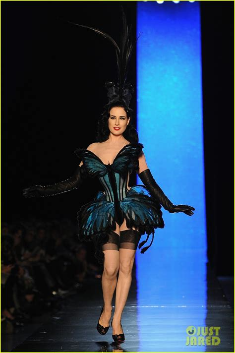 Gaultier Show A Come True For Dita by Dita Teese Hits The Runway For Jean Paul Gaultier Show