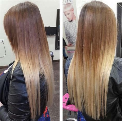 straight sholder length ombre hair sleek and sexy hair beauty with ombre straight hair