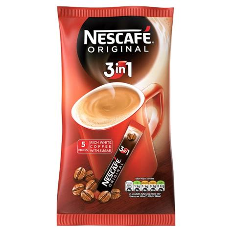 Nescafe 3in1 Original 10x17 5g nescafe original 3 in 1 instant coffee 5 sachets 85g