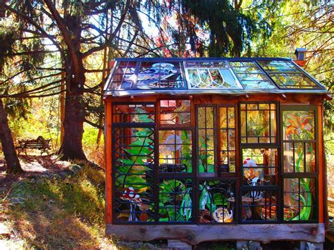 Plans For Cottages And Small Houses a stained glass cabin hidden in the woods by neile cooper