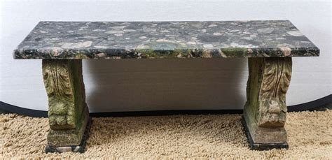 cast stone bench small marble and cast stone garden bench at 1stdibs