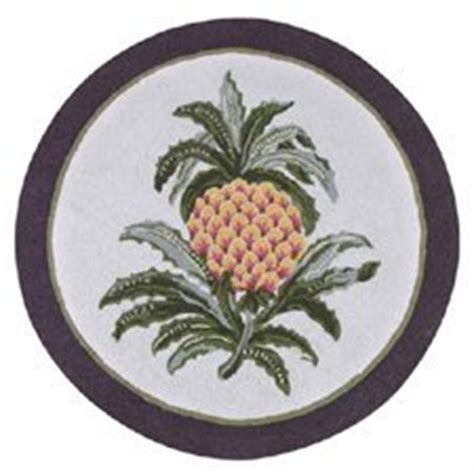 3 hooked rug colonial welcome pineapple williamsburg kitchen dining