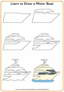 motor boat drawing learn to draw a motor boat
