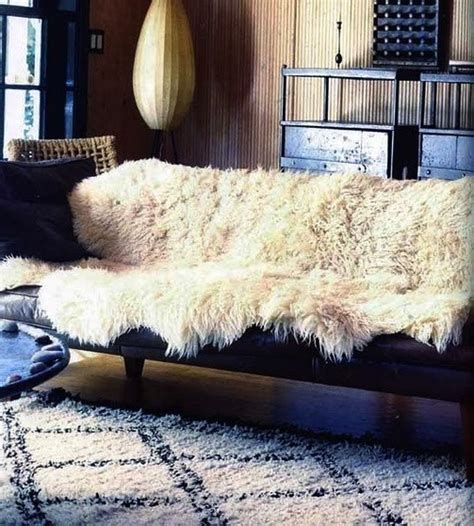 Sheepskin Rug On Sofa sheep leather couches and on