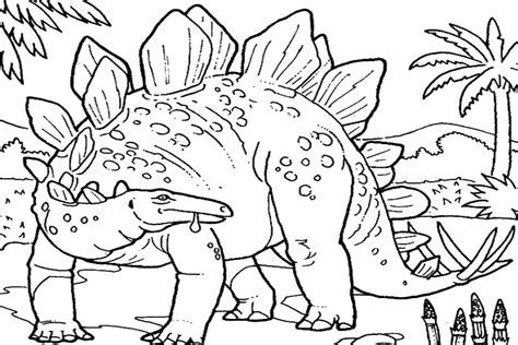 dinosaur jungle coloring page dinosaurs are extinct but are kept alive on onlykidsonly com