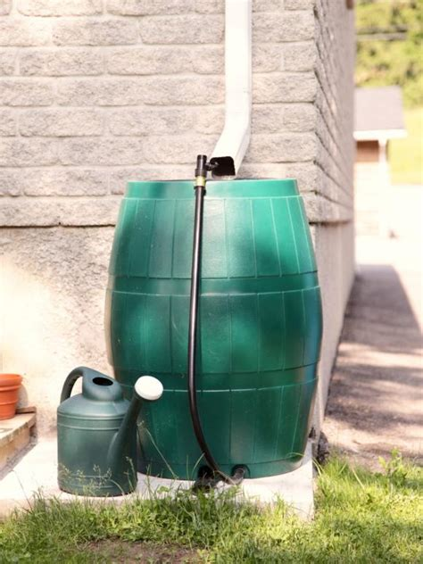 conserve water   rain barrel hgtv