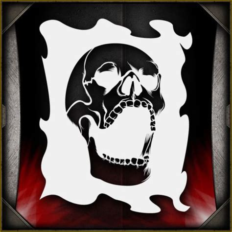 airbrush skull templates 1000 ideas about stencil templates on