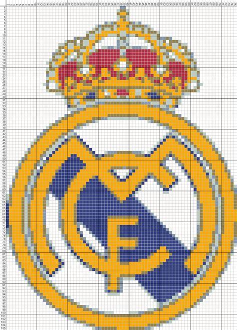 imagen en punto en cruz el escudo de emelec dibujos punto de cruz gratis escudo real madrid punto