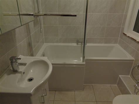 Bathroom L by Corner Bath Removed L Shaped Bath Fitted
