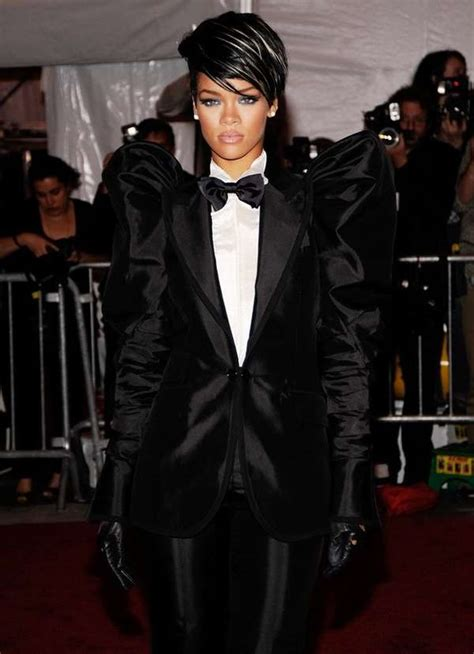 Female Tuxedos: Rihanna at 2009 Costume Institute Gala at the Met in NYC