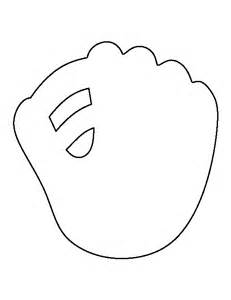 Baseball Template by Baseball Mitt Pattern Use The Printable Outline For