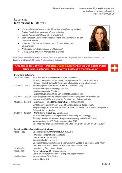 Lebenslauf Vorlage Schweiz Lebenslauf Vorlage Schweiz Dokument Blogs