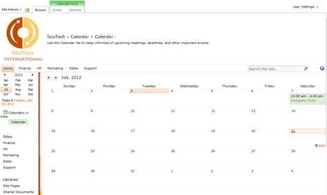 sharepoint calendar template sharepoint calendar exles new calendar template site