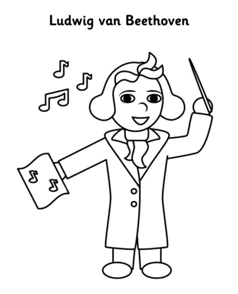 beethoven lead orchestra colouring page coloring