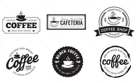 12 Retro Vintage Coffee Logo by mengloong   GraphicRiver