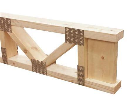 trimmable wood floor truss  menards