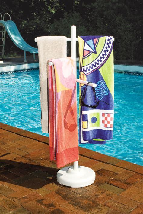 pool side outdoor 3 bar vertical towel rack