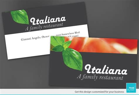 Italian Restaurant Gift Card - sushi restaurant business card template mycreative restaurant business card the
