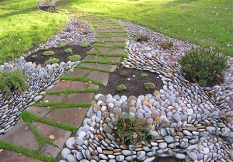 Pebble Garden Ideas 25 Unique Backyard Landscaping Ideas And Garden Path Designs With Pebbles