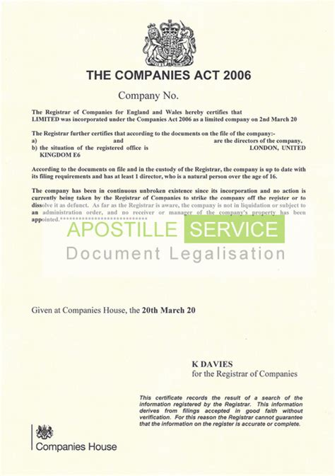 Certificate Of No Criminal Record China Uk Apostille Certificate Service Legalising Documents For Overseas