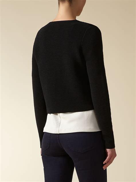 ottoman jacket jaeger black ottoman knit jacket lyst