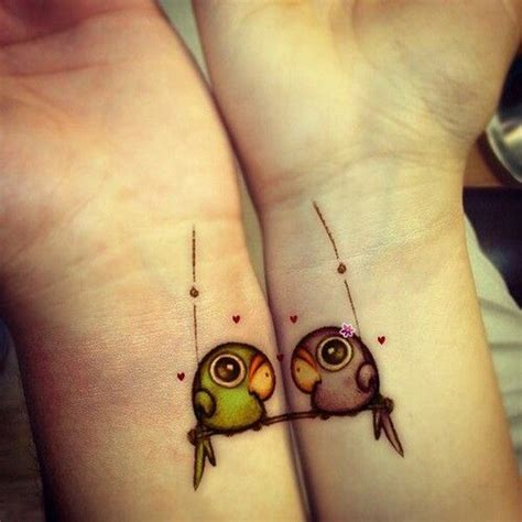70  Lovely Matching Tattoos   Art and Design