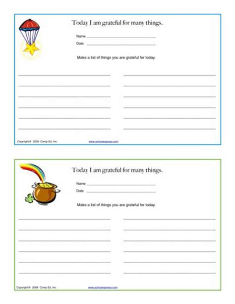 Gratitude Worksheets by Schoolexpress 19000 Free Worksheets Create Your