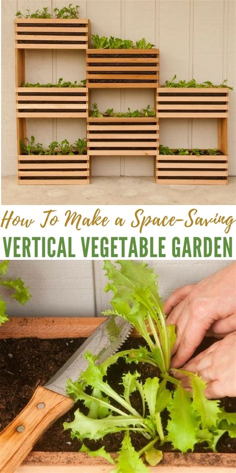 how to make a space saving vertical vegetable garden