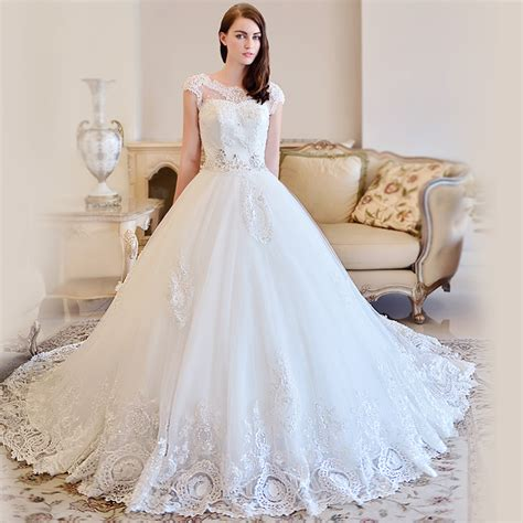 wedding dress layout omyw0083 cap sleeve lace wedding dresses crystal beads