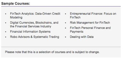 Nyu Fintech Mba by Nyu Launches Fintech Mba Specialization Transcend