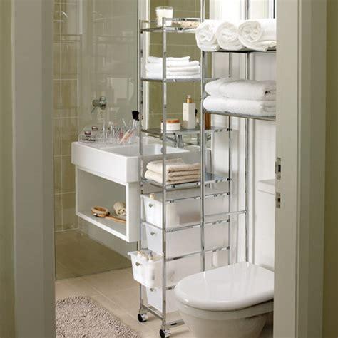 Sink Storage Ideas Bathroom by Chrome Varnished Console Bathroom Storage Idea Toilet