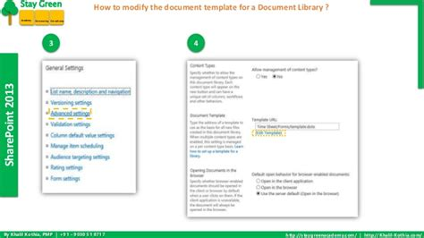 sharepoint 2013 document library template how to modify the document template for a document library