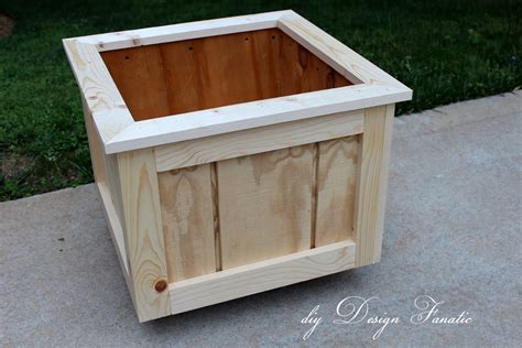 Build Wood Planter Box by Diy Design Fanatic How To Make A Wood Planter Box